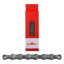 Sunrace ketting 9 speed zilver 116 schakels met sluitschakel